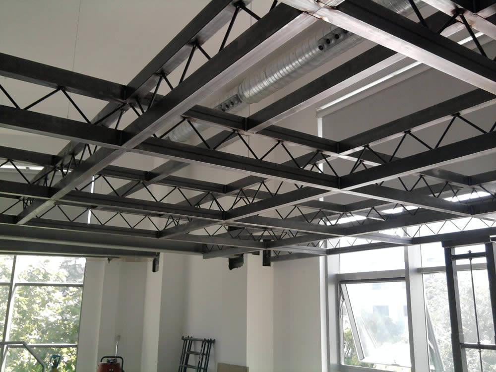 forjado estructura metalica amazing detalle cubierta